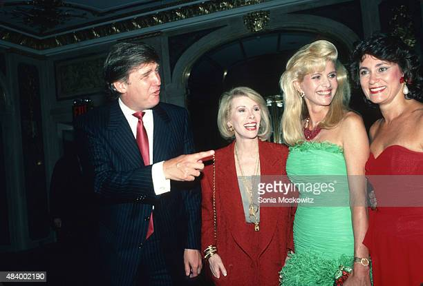 Donald Trump Joan Rivers Ivana Trump Sharon Hoge attend a Town and Country party September 1989 in New York City