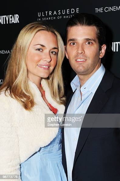 Donald Trump Jr and Vanessa Haydon Trump attend the Cinema Society with Vanity Fair Ambrosi Abrianna after party for the of 'Ultrasuede In Search of...