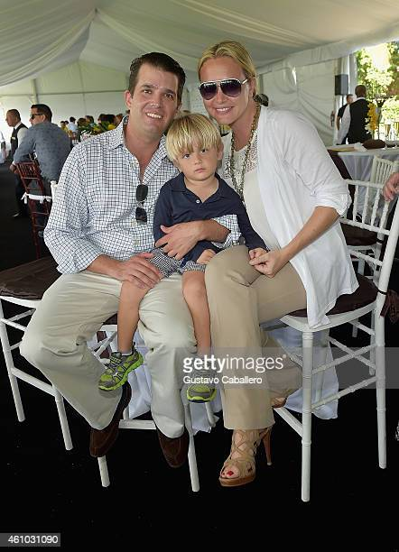 Donald Trump Jr and Vanessa Haydon Trump attends Trump Invitational Grand Prix MaraLago Club at The MaraLargo Club on January 4 2015 in Palm Beach...