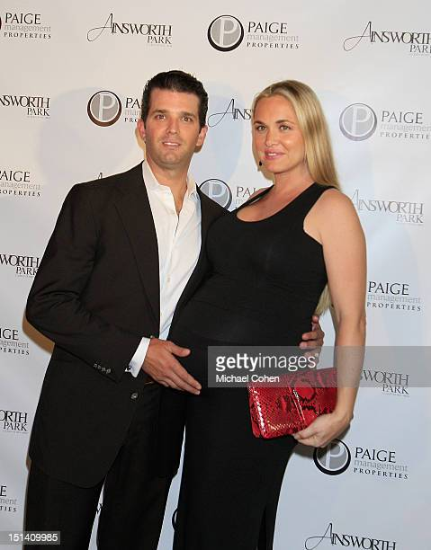 Donald Trump Jr and Vanessa Trump at a photocall during Ryan Lochte Hosts 'Guys Fashions Night Out' Presented By Ainsworth Park and Windsor Custom on...