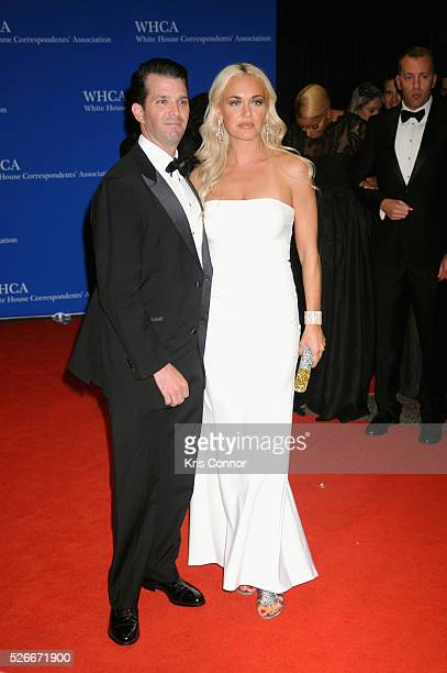 Donald Trump Jr and Vanessa Trump attend the 102nd White House Correspondents' Association Dinner on April 30 2016 in Washington DC