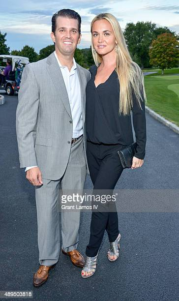 Donald Trump Jr and Vanessa Trump attend the 9th Annual Eric Trump Foundation Golf Invitational Auction Dinner at Trump National Golf Club...