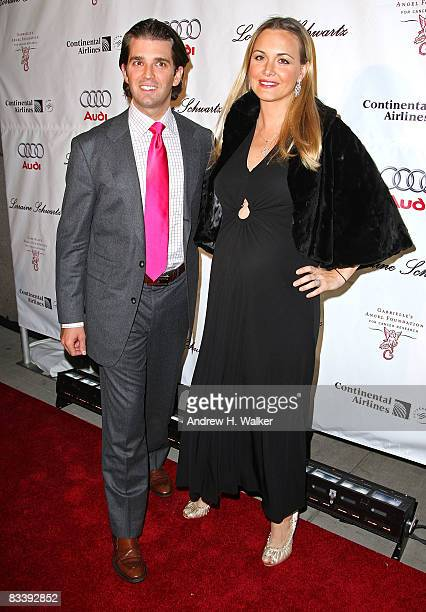 Donald Trump Jr and Vanessa Trump attend the 'Gabrielle's Gala' hosted by Gabrielle's Angel Foundation at Cipriani Wall Street on October 22 2008 in...