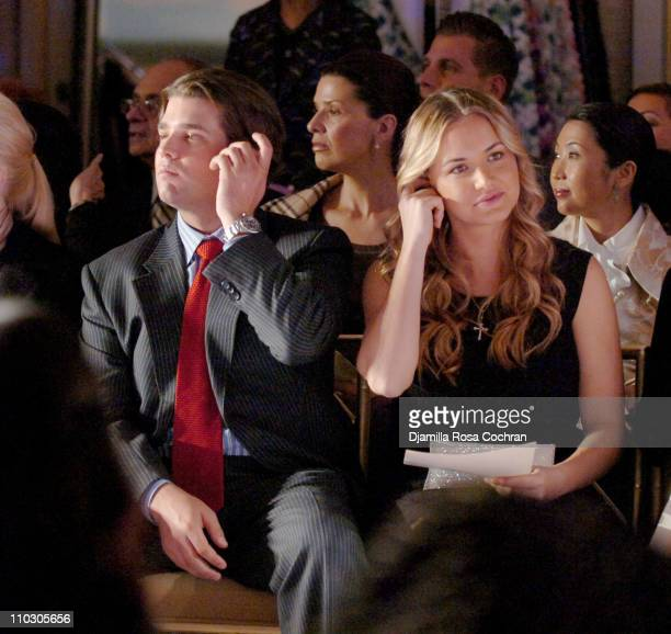 Donald Trump Jr and Vanessa Trump during Chie Imai 30th Anniversary Fashion Show at St Regis Hotel Roof in New York City New York United States