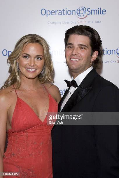 Donald Trump Jr and Vanessa Trump during Operation Smile's Smile Collection Charity Gala at Skylight Studios in New York New York United States