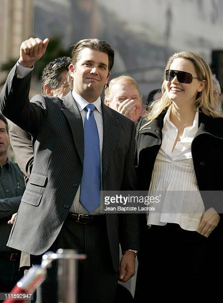 Donald Trump Jr and wife Vanessa Haydon Trump during Donald Trump Honored with Hollywood Walk of Fame Star at Hollywood Boulevard in Hollywood...