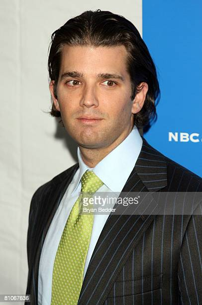 Donald Trump Jr arrives for the NBC Universal Experience at Rockefeller Center as part of upfront week on May 12 2008 in New York City