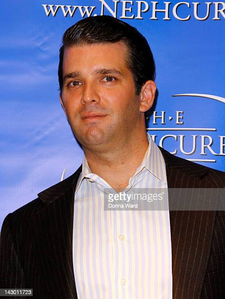 Donald Trump Jr attends the 'Celebrity Apprentice' NephCure Foundation press conference at Trump Tower on April 17 2012 in New York City
