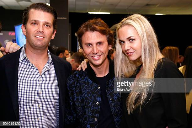Donald Trump Jr Jonathan Cheban and Vanessa Haydon attend Z100's Jingle Ball 2015 Z100's Artist Gift Lounge at Madison Square Garden on December 11...