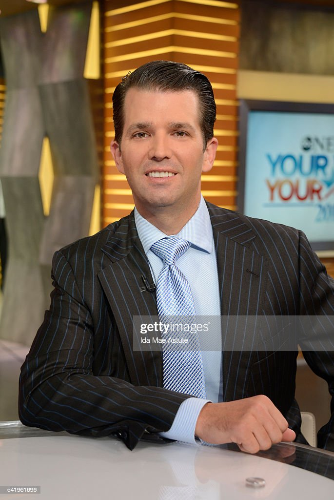 AMERICA - Donald Trump, Jr. talks politics on GOOD MORNING AMERICA, 6/21/16, airing on the ABC Television Network. (Photo by Ida Mae Astute/ABC via Getty Images) DONALD