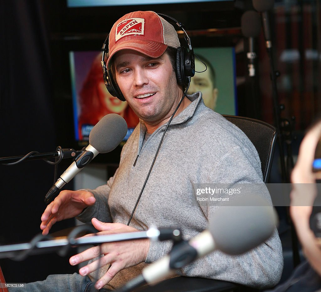 Donald Trump Jr. visits 'The Opie & Anthony Show' at SiriusXM Studios on March 1, 2013 in New York City.