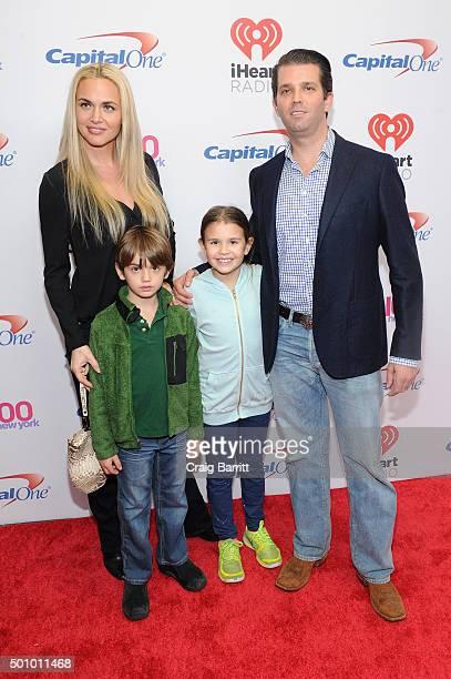 Donald Trump Jr wife Vanessa Haydon and children Kai Madison and Donald John III attend Z100's Jingle Ball 2015 at Madison Square Garden on December...