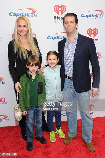 Donald Trump Jr wife Vanessa Haydon and children Kai Madison and Donald John III attend Z100's Jingle Ball 2015 at Madison Square Garden on December...