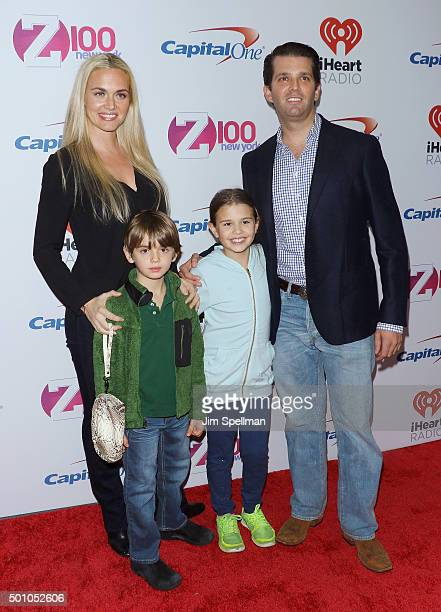 Donald Trump Jr wife Vanessa Haydon and children Kai Madison and Donald John III attend the Z100's iHeartRadio Jingle Ball 2015 at Madison Square...