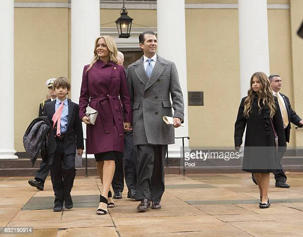 Donald Trump Jr with his wife Vanessa and children departs St John's Church on Inauguration Day on January 20 2017 in Washington DC Donald J Trump...