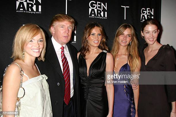 Donald Trump Melania Knauss Trump Models during viewing party for 'The Apprentice 2' The Fashion Episode at Pressure in New York New York United...