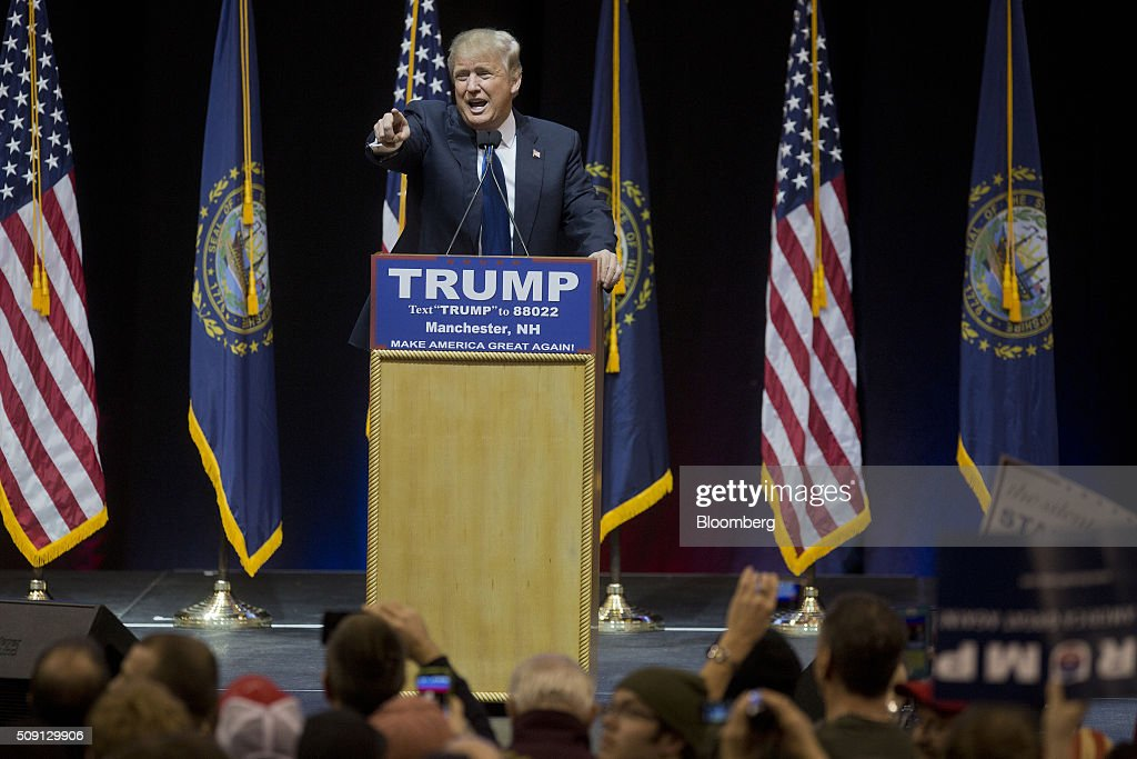 Presidential Candidate Donald Trump Holds New Hampshire ...