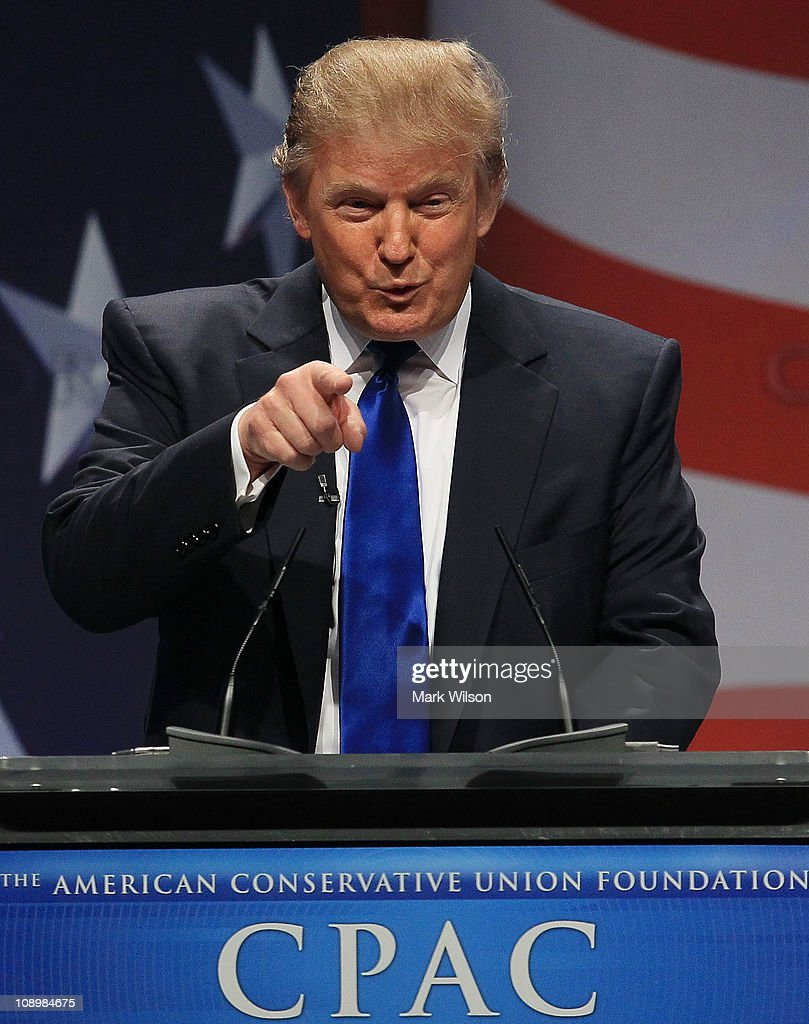 Donald Trump, speaks at the Conservative Political Action conference (CPAC), on February 10, 2011 in Washington, DC. The CPAC annual gathering is a project of the American Conservative Union.