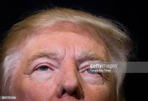 Donald Trump speaks during a rally at the Sarasota Fairgrounds in Sarasota Florida on Monday November 7 2016