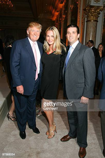 Donald Trump Vamessa Trump and Donald Trump Jr attend the Andrea Bocelli concert at The MaraLago Club on February 28 2010 in Palm Beach Florida