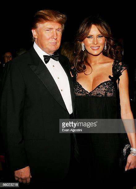 Donald Trump Visionary Business Leader award honoree and his wife Melania attend Fashion Group International's 22nd Annual 'Night Of Stars' at...