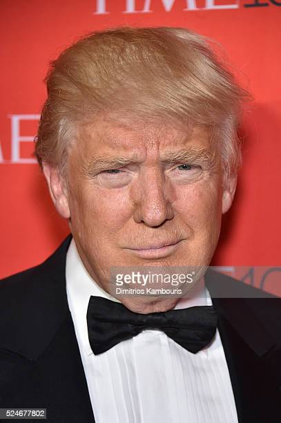 Donald Trumpattends 2016 Time 100 Gala Time's Most Influential People In The World red carpet at Jazz At Lincoln Center at the Times Warner Center on...