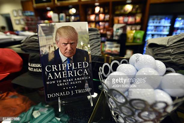 Donald Trump's book is seen for sale at a shop inside the Trump International Hotel in Las Vegas Nevada on February 23 2016 AFP PHOTO / JOSH EDELSON...