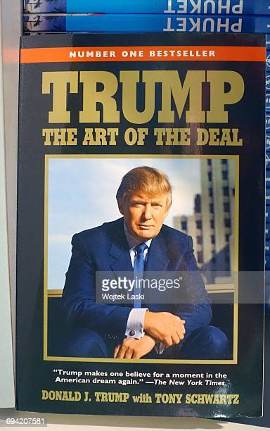 Donald Trump's book 'The Art Of The Deal' on sale in a gadget and souvenir shop in Los Angeles USA January 2017 Trump merchandise is heavily in...