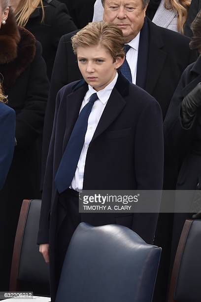 Donald Trump's son Barron is seen during the swearingin ceremony for the 45th President of the USA in front of the Capitol in Washington on January...