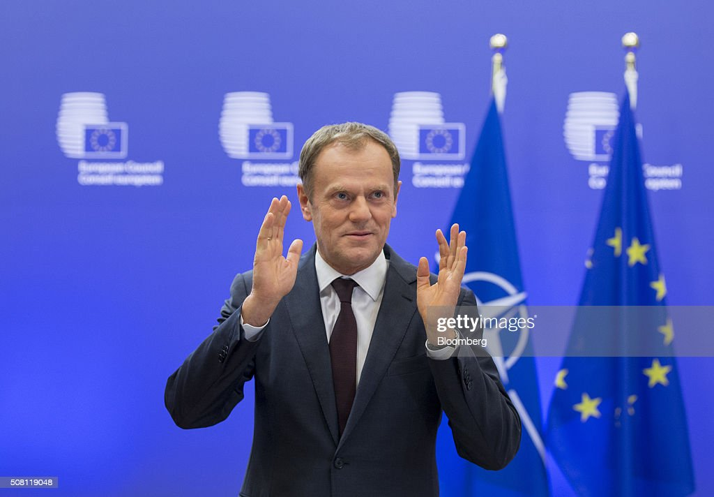 European Union President Donald Tusk Meets NATO Secretary ...