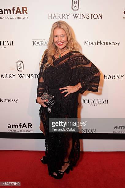 Donata Meirelles attends the 5th Annual amfAR Inspiration Gala at the home of Dinho Diniz on April 10 2015 in Sao Paulo Brazil