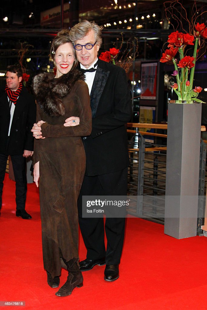 Donata Wenders and Wim Wenders attend the Closing Ceremony of the 65th Berlinale International Film Festival on February 14 2015 in Berlin Germany