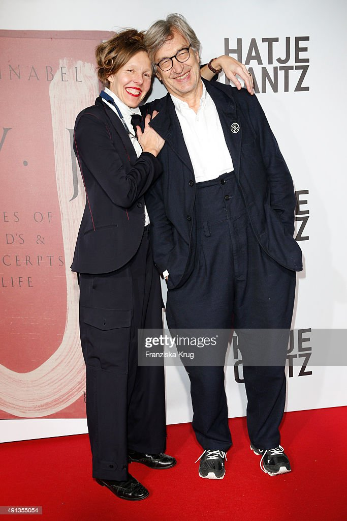 Donata Wenders and Wim Wenders attend the Facsimile Presentation Of The Book 'CVJ Nicknames of Maitre D's Other Excerpts from Life' in Berlin on...