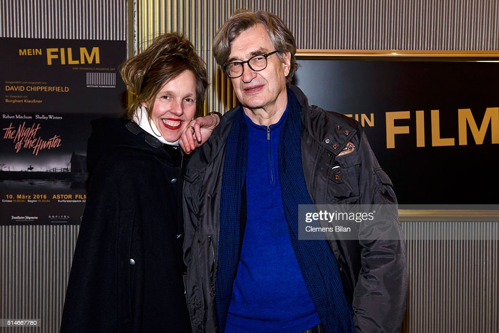 Donata Wenders and Wim Wenders attend the 'Mein Film' Photo Call In Berlin at Astor Film Lounge on March 10 2016 in Berlin Germany