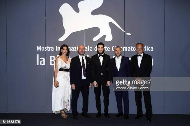 Donatella Finocchiaro Bruno Oliviero Alessio Lapice Massimiliano Gallo and director of the festival Alberto Barbera walks the red carpet ahead of the...