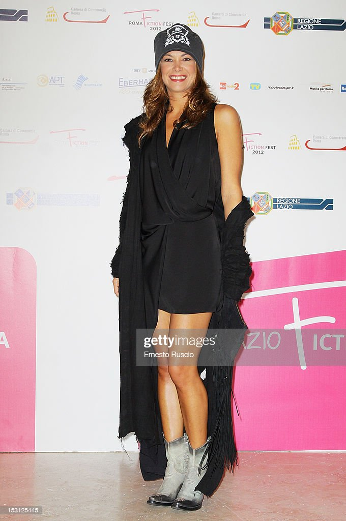 Donatella Pompadour attends the ' RomaFictionFest 2012 - Opening Ceremony' at Auditorium Parco Della Musica on September 30, 2012 in Rome, Italy.