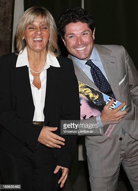 Donatella Treu and Matteo Marzotto attend the 'Warhol' Exhibition Press Conference and Press Preview at Palazzo Reale on October 23 2013 in Milan...