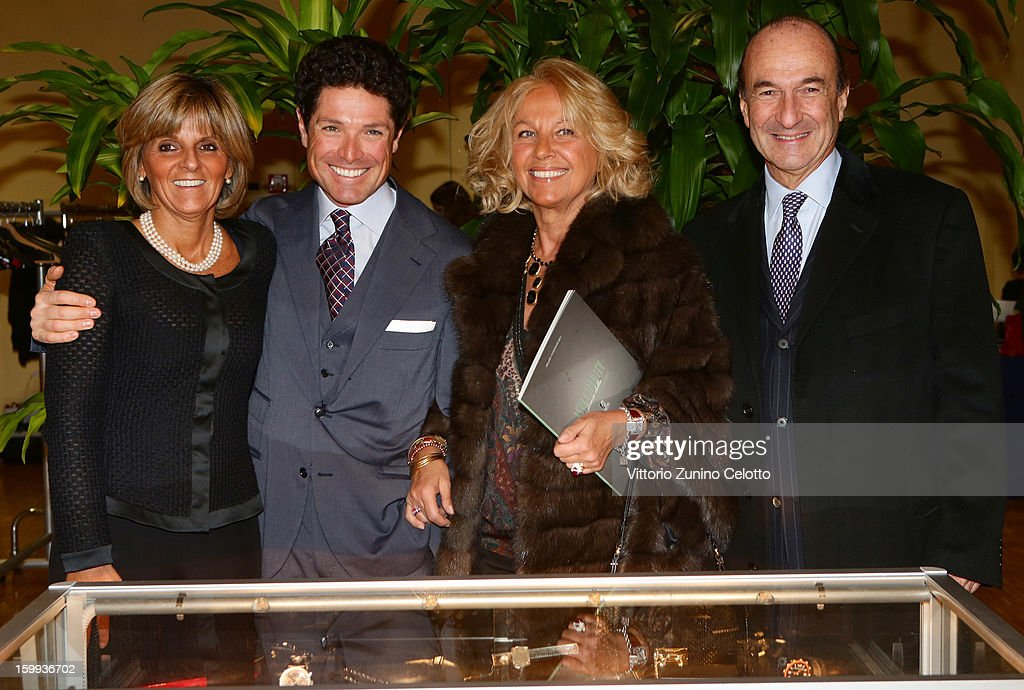Donatella Treu, <a gi-track='captionPersonalityLinkClicked' href=/galleries/search?phrase=Matteo+Marzotto&family=editorial&specificpeople=624134 ng-click='$event.stopPropagation()'>Matteo Marzotto</a>, Maria Franca Norsa and Michele Norsa attend the Sotheby's charity auction for FFC Onlus on January 23, 2013 in Milan, Italy.