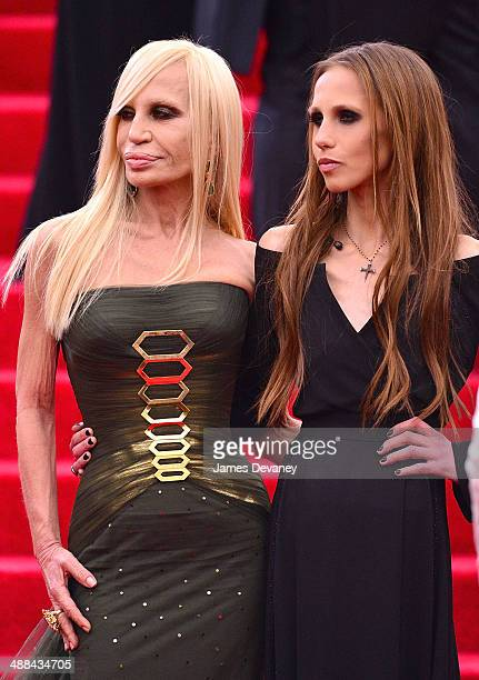 Donatella Versace and Allegra Versace attend the 'Charles James Beyond Fashion' Costume Institute Gala at the Metropolitan Museum of Art on May 5...