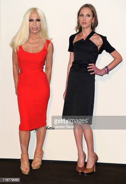 Donatella Versace and Allegra Versace attend Tribute To Italian Excellence at Milan Stock Exchange on June 17 2011 in Milan Italy