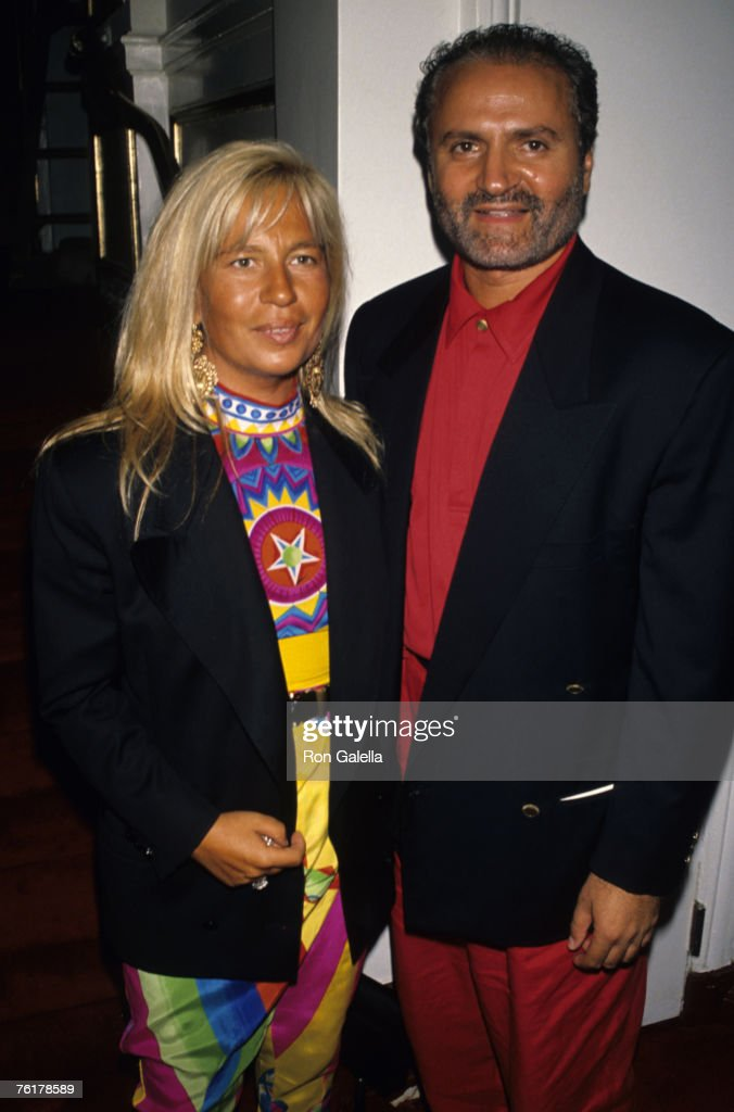 Donatella Versace and Gianni Versace