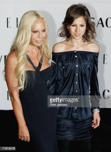 Donatella Versace and her daughter...