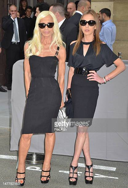 Donatella Versace and her daughter Allegra Versace arrives for the Christian Dior HauteCouture Show as part of Paris Fashion Week Fall/Winter 2013 on...