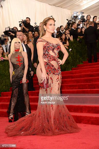Donatella Versace and Jennifer Lopez attend the 'China Through The Looking Glass' Costume Institute Benefit Gala at Metropolitan Museum of Art on May...
