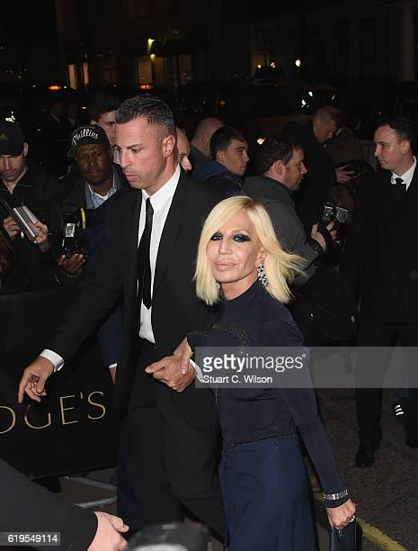 Donatella Versace attends Harper's Bazaar Women Of The Year Awards at Claridge's Hotel on October 31 2016 in London England