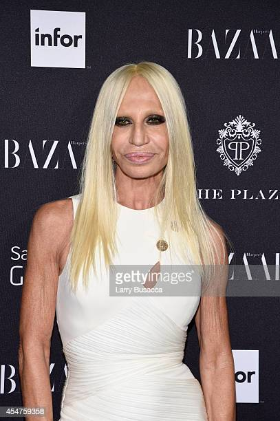 Donatella Versace attends Moet Chandon and Belvedere Vodka Toast to Harper's Bazaar Icons at The Plaza Hotel on September 5 2014 in New York City
