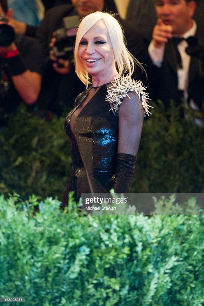 Donatella Versace attends the Costume Institute Gala for the 'PUNK: Chaos to Couture' exhibition at the Metropolitan Museum of Art on May 6, 2013 in New York City.