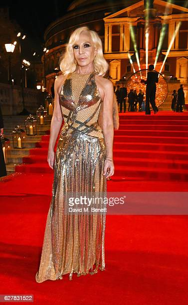 Donatella Versace attends The Fashion Awards 2016 at Royal Albert Hall on December 5 2016 in London United Kingdom