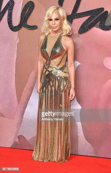 Donatella Versace attends The Fashion Awards 2016 on December 5 2016 in London United Kingdom