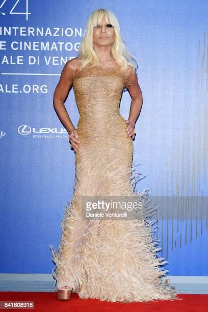 Donatella Versace attends the Franca Sozzani Award during the 74th Venice Film Festival on September 1 2017 in Venice Italy